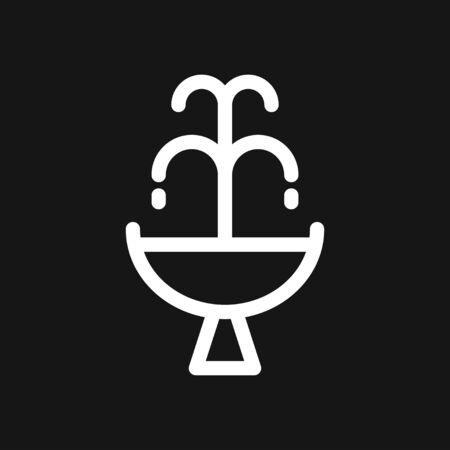 Fountain icon, vector illustration fountain with water splash Illusztráció