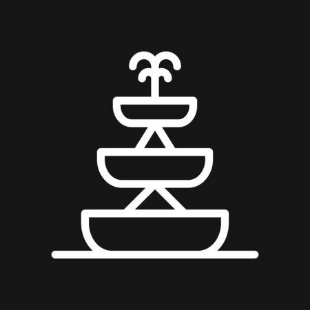Fountain icon, vector illustration fountain with water splash 일러스트