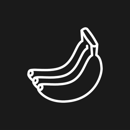 Fruit icons, vector symbol of food signs Illustration