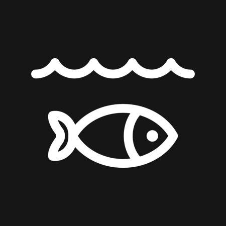 Fish Icon. vector illustration for design. Elements for design.