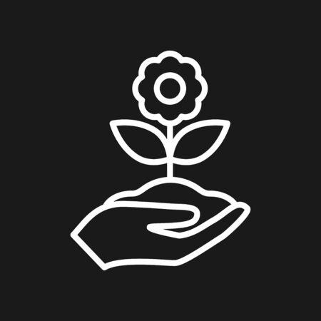 Garden icon isolated on background. Gardening symbol