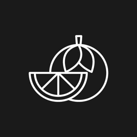 Fruit icons, vector symbol of food signs Illusztráció