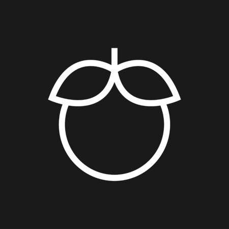 Fruit icons, vector symbol of food Illustration