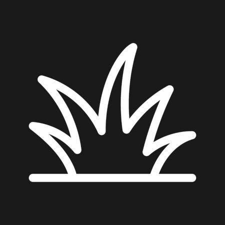 Grass icon, eco symbol of grass. Vector illustration Illusztráció