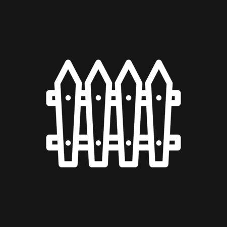 Fence icon, modern minimal flat design style, vector illustration