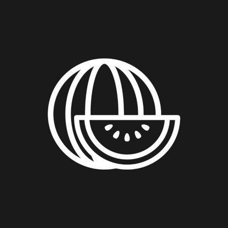 Fruit icons, vector symbol of food Illusztráció