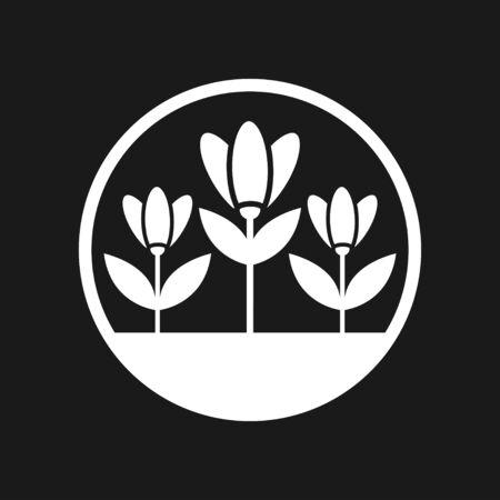 Garden icon isolated on background. Gardening symbol, vector illustration