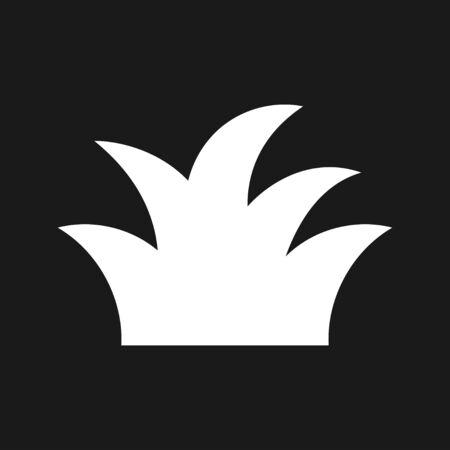 Grass icon, eco symbol of grass. Vector logo Illusztráció