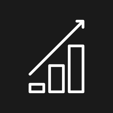 Growth icon, business infographic icons - Vector growth symbol