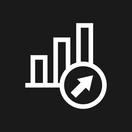Growth icon, business infographic icons - Vector growth symbol Фото со стока - 137955160