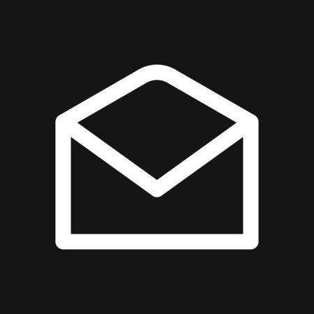 Vector mail envelope and letter icon set Illusztráció