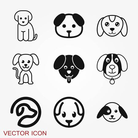 Puppy icon. Dog symbol. Vector element for your design