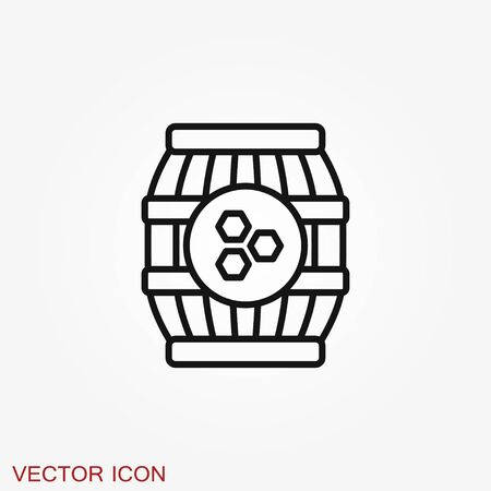 Jar vector icon with cap isolated on background