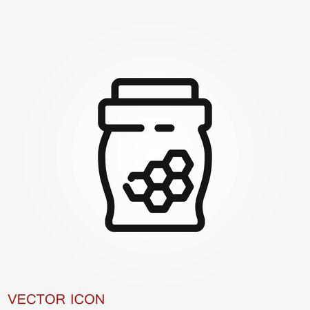 Jar vector icon Illusztráció