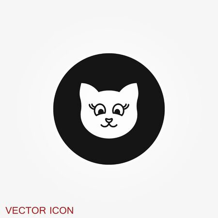 Cat icon. Kitty Vector Icon. Cat symbol isolated on background