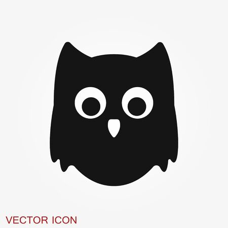 Owl icon. Vector images of owl