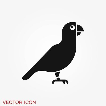 Parrot icon. Vector Stylish Abstract Silhouette Bird logo Иллюстрация