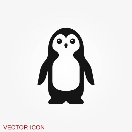 Penguin icon. Abstract birds on white background. Иллюстрация