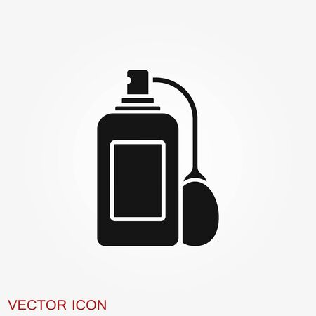 Perfume icon. Vector isolated silhouette, Cosmetics Perfume Bottles Simple shapes were used.