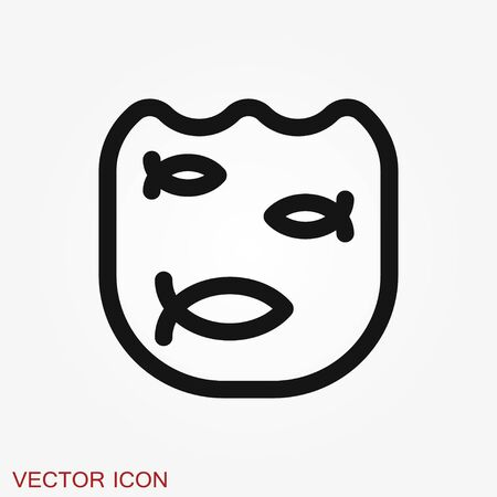 Pond icon illustration isolated vector sign Иллюстрация