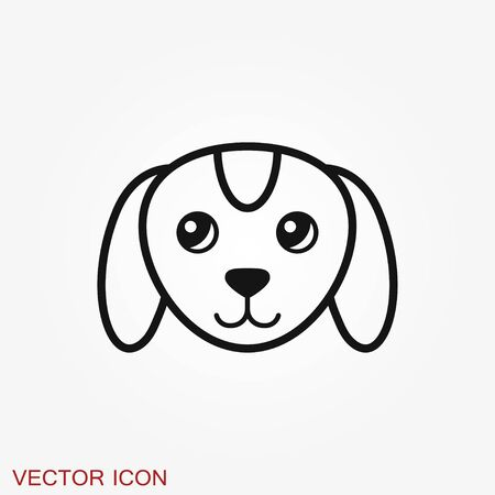 Puppy icon. Dog symbol. Vector element for design Иллюстрация