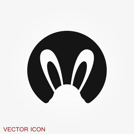 Rabbit icon vector, design on background, Rabbit Logo for your design.