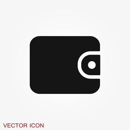 Purse vector icon. Wallet symbol for your web site design, logo Иллюстрация
