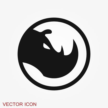 Rhino icon isolated on backgrounds, vector animal Иллюстрация