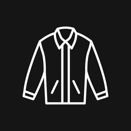 Jacket icon. Clothes icon vector on background.