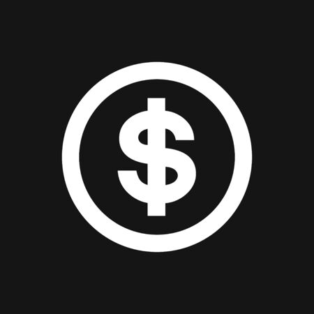 Money icon to use in web and mobile UI, set of basic UI money elements