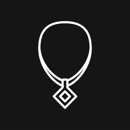 Necklaces icon. Stylized sign of beads necklace. Identity symbol for jewellery industry companies 일러스트
