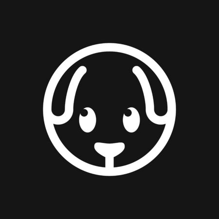 Puppy icon. Dog symbol. Vector element for design