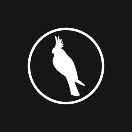 Parrot icon. Vector Stylish Abstract Silhouette Bird