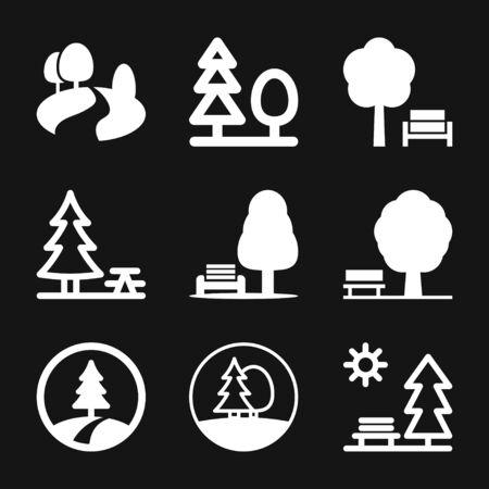 Park vector icon isolated on background. Ecology symbol Illustration