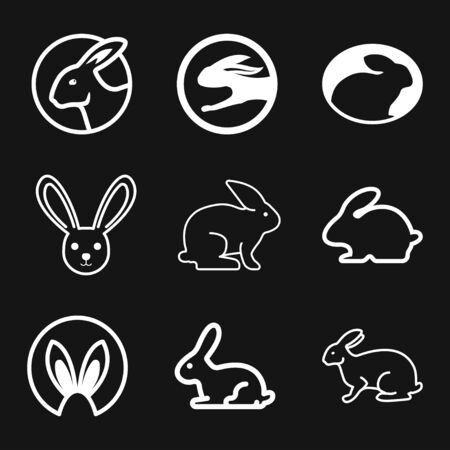 Rabbit icon vector, design on background, Rabbit Logo for your design. Animal. Logo