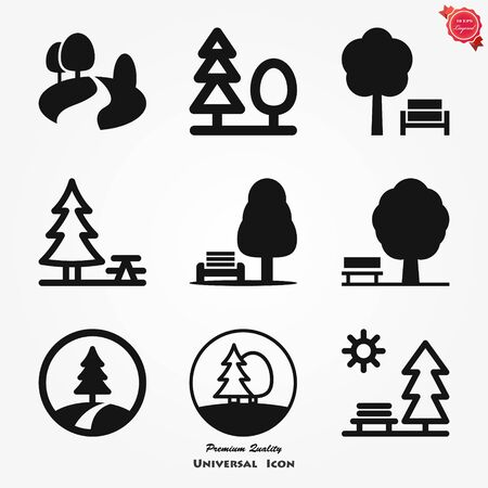 Park vector icon isolated on background. Ecology sign