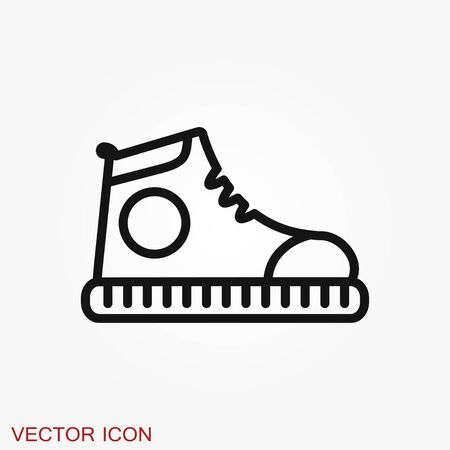 Sneakers icon, shoes symbol isolated on background. Illustration