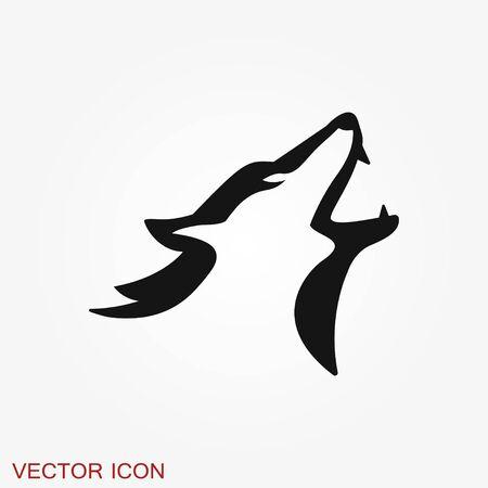 Wolf icon. Animal symbol isolated on background.