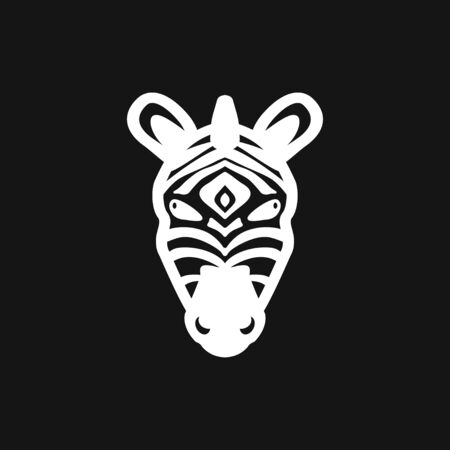 Abstract zebra pattern icon isolated on background