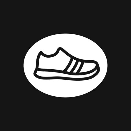 Trainers icon. Running shoe symbol isolated on background.