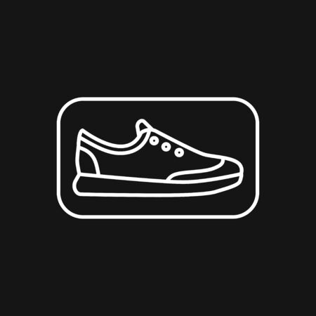 Trainers icon. Running shoe symbol isolated on background. 矢量图像