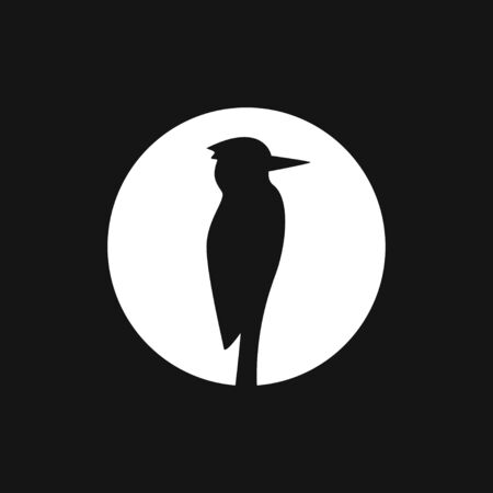 Woodpecker icon. Bird symbol isolated on background.