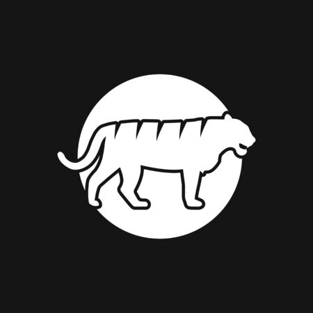 Tiger icon, symbol isolated on background.