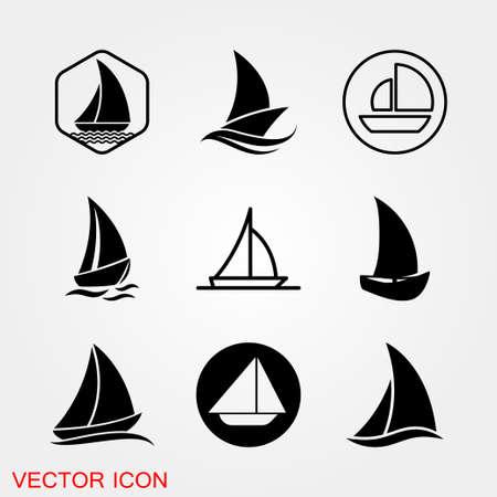 Boat icon. Ships transportation, vector sign illustration 向量圖像