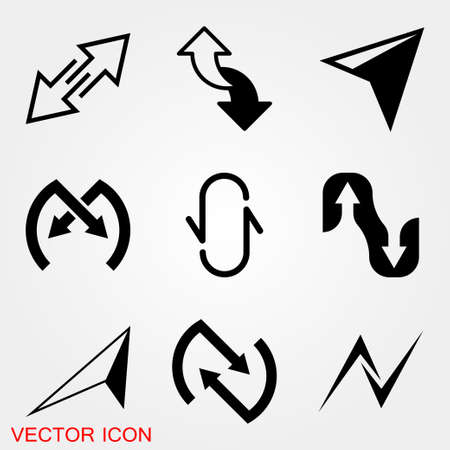 Arrow Icon in trendy flat style isolated on background. Arrow symbol for your web site design, logo, app, UI.