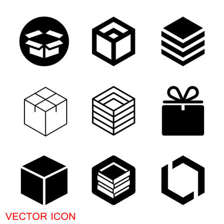 Box icon. Vector Gift Box Icons, Holiday Presents