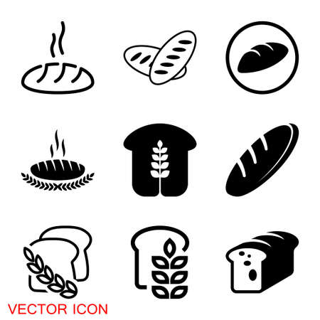 Bread icon. Bread bakery symbol vector illustration. eps 10 Vecteurs