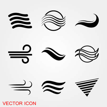 Air icon, symbol of wind energy. Vector sign 矢量图像