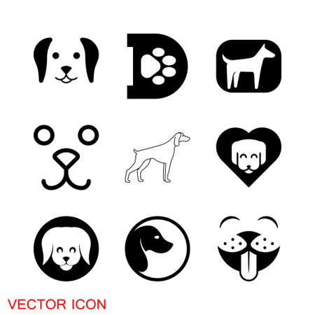 Dog icon. Vector element for your design symbol 矢量图像