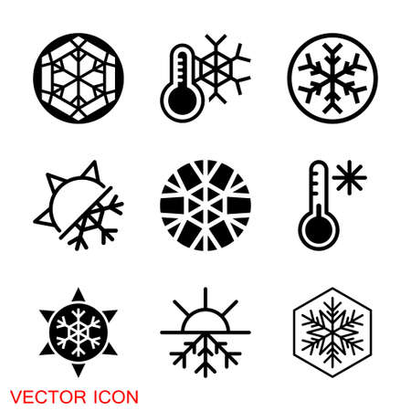 Cold icon. Snowflake sign icon. Air conditioning symbol.
